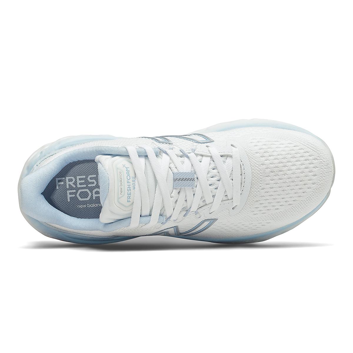 Women's New Balance More V3 Running Shoe - Color: White/Uv Glo - Size: 5 - Width: Extra Wide, White/Uv Glo, large, image 3