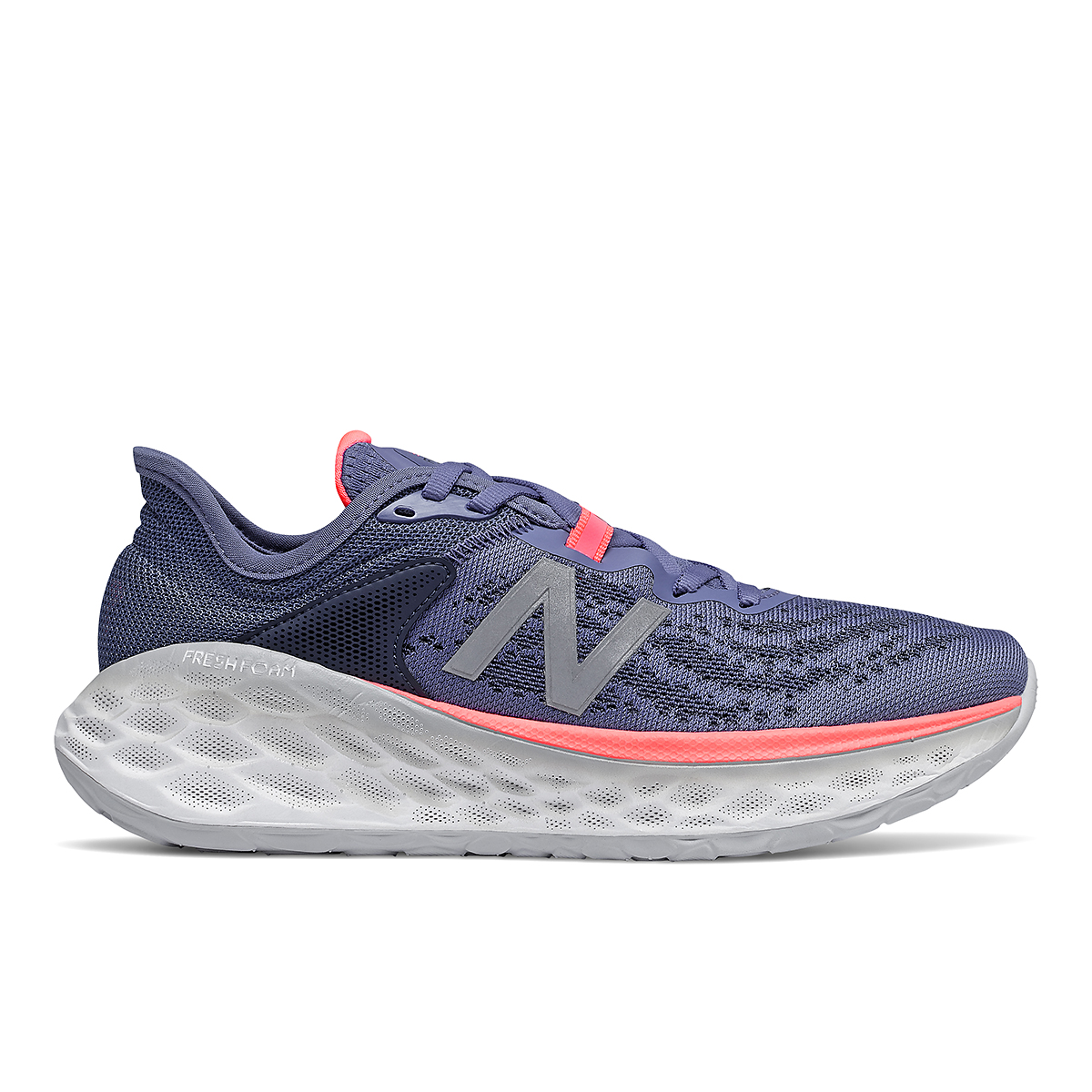 Women's New Balance Fresh Foam More V2 Running Shoe - Color: Magnetic Blue - Size: 5 - Width: Extra Wide, Magnetic Blue, large, image 1