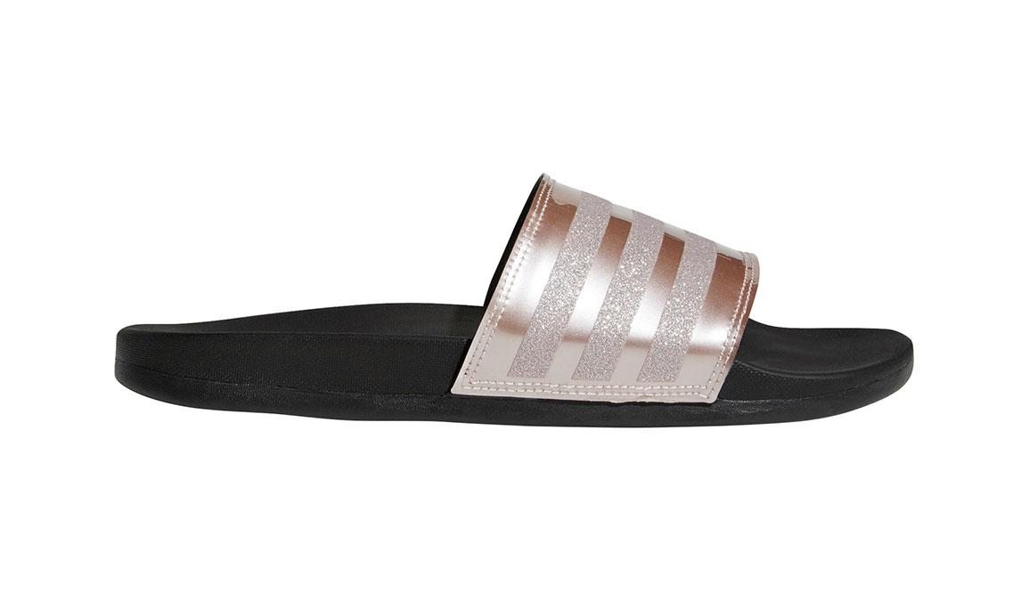 Women's Adidas Adilette Comfort Slides - Color: Rose Gold/Grey (Regular Width) - Size: 10, Rose Gold/Grey, large, image 1