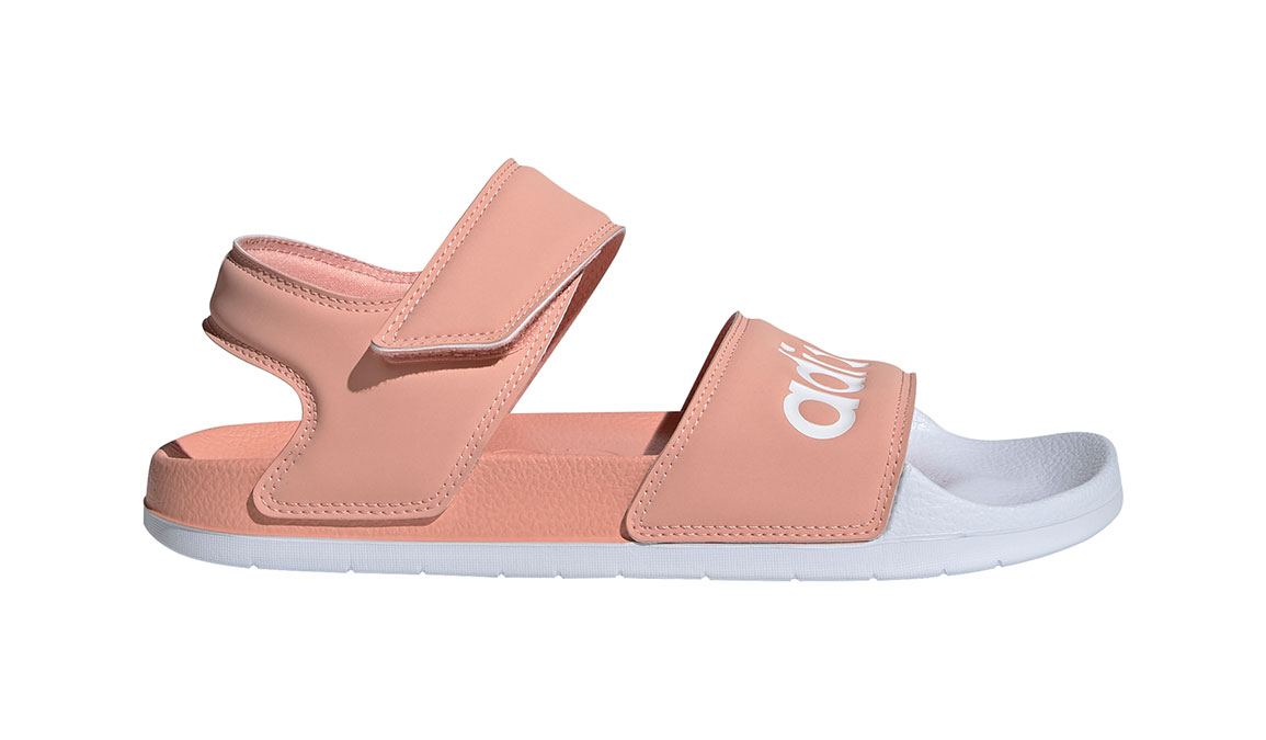 Women's Adidas Adilette Sandal - Color: Dust Pink/Feather White (Regular Width) - Size: 7, Dust Pink/Feather White, large, image 1