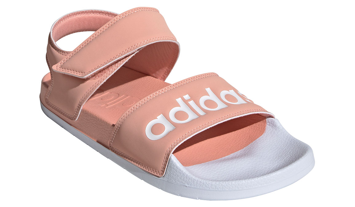 Women's Adidas Adilette Sandal - Color: Dust Pink/Feather White (Regular Width) - Size: 7, Dust Pink/Feather White, large, image 2