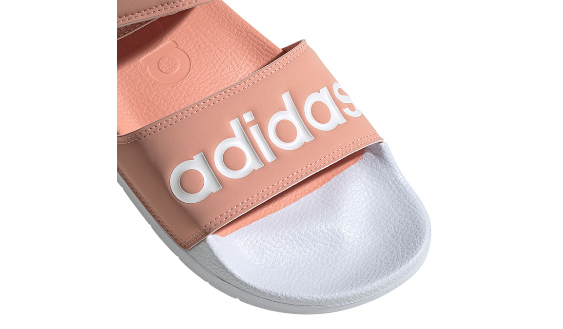 Women's Adidas Adilette Sandal - Color: Dust Pink/Feather White (Regular Width) - Size: 7, Dust Pink/Feather White, large, image 3