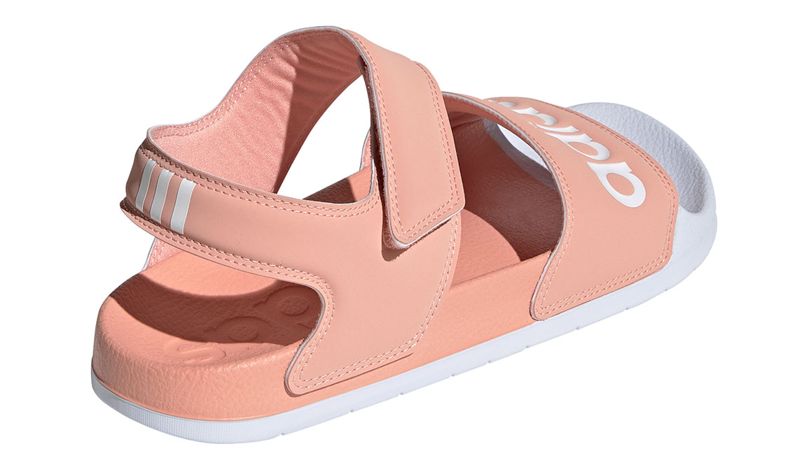 Women's Adidas Adilette Sandal - Color: Dust Pink/Feather White (Regular Width) - Size: 7, Dust Pink/Feather White, large, image 4