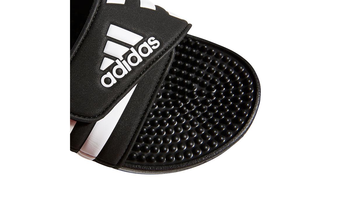 Women's Adidas Adissage Recovery Slides - Color: Black/White (Regular Width) - Size: 5, Black/White, large, image 3