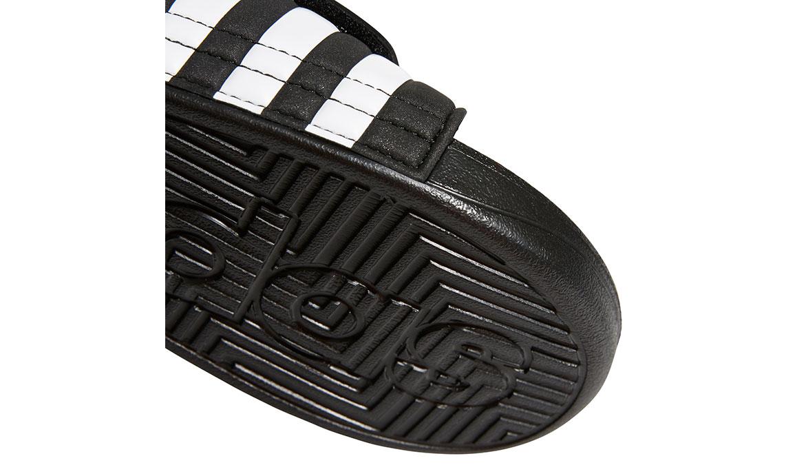 Women's Adidas Adissage Recovery Slides - Color: Black/White (Regular Width) - Size: 5, Black/White, large, image 4