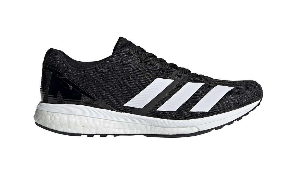 Women's Adidas Adizero Boston 8 Running Shoe - Color: Core Black/Feather White (Regular Width) - Size: 8.5, Black/White, large, image 1