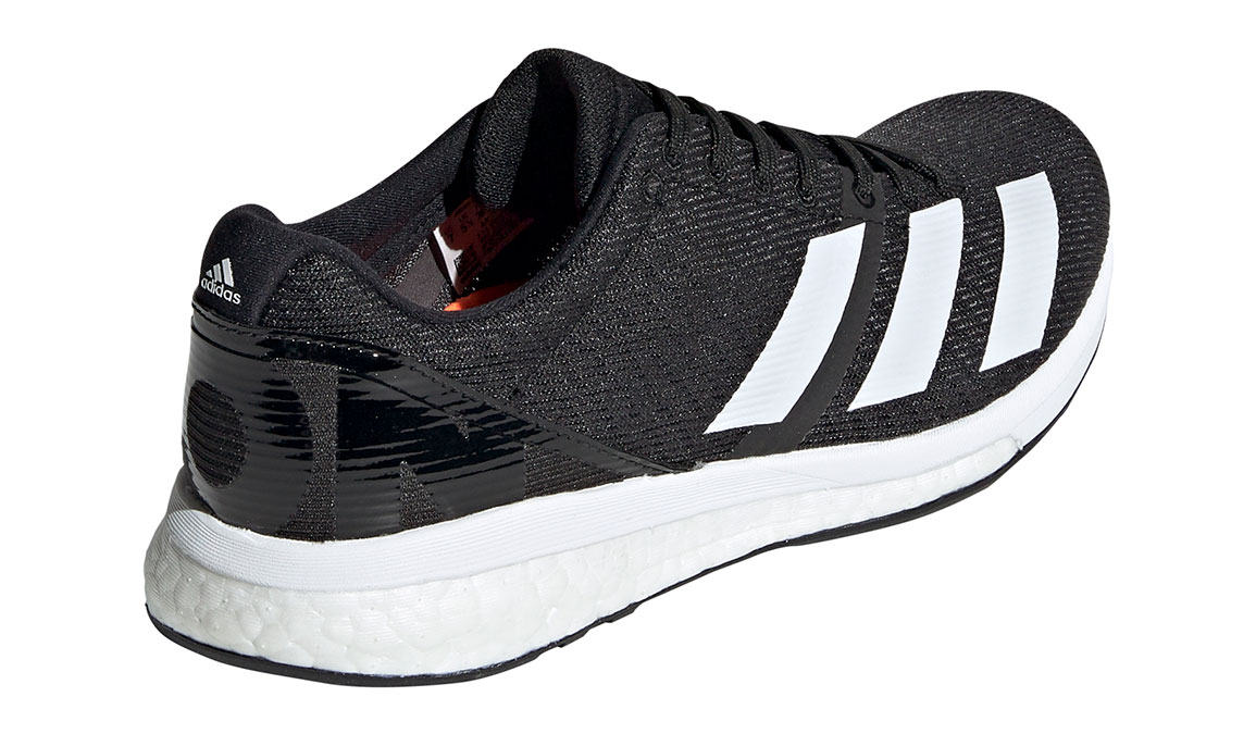 Women's Adidas Adizero Boston 8 Running Shoe - Color: Core Black/Feather White (Regular Width) - Size: 8.5, Black/White, large, image 2
