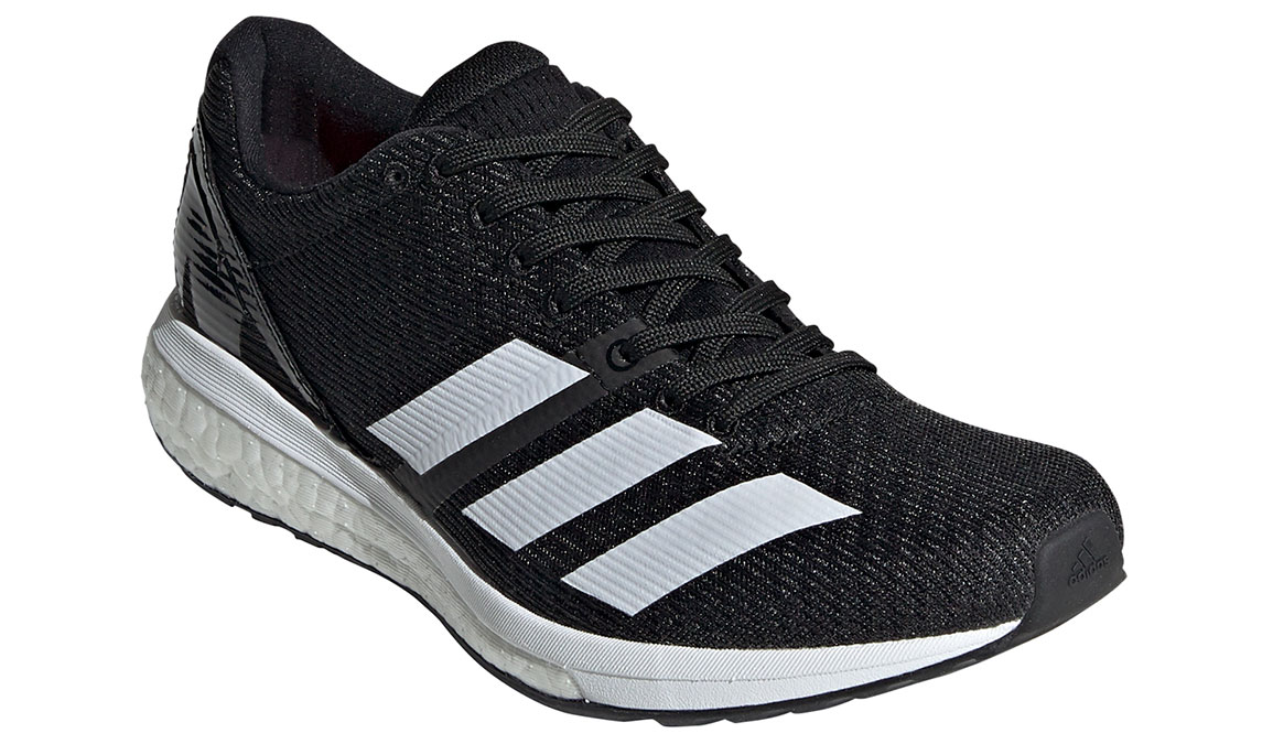 Women's Adidas Adizero Boston 8 Running Shoe - Color: Core Black/Feather White (Regular Width) - Size: 8.5, Black/White, large, image 4