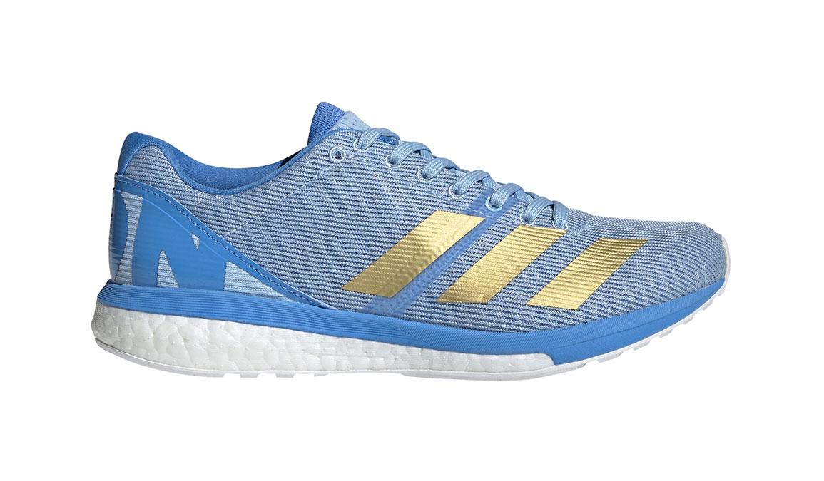 Women's Adidas Adizero Boston 8 Running Shoe - Color: Glow Blue/Gold Metallic (Regular Width) - Size: 5, Blue/Gold, large, image 1