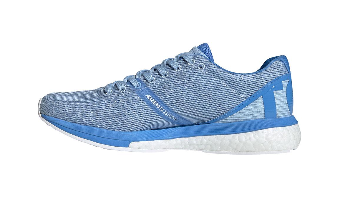 Women's Adidas Adizero Boston 8 Running Shoe - Color: Glow Blue/Gold Metallic (Regular Width) - Size: 5, Blue/Gold, large, image 2