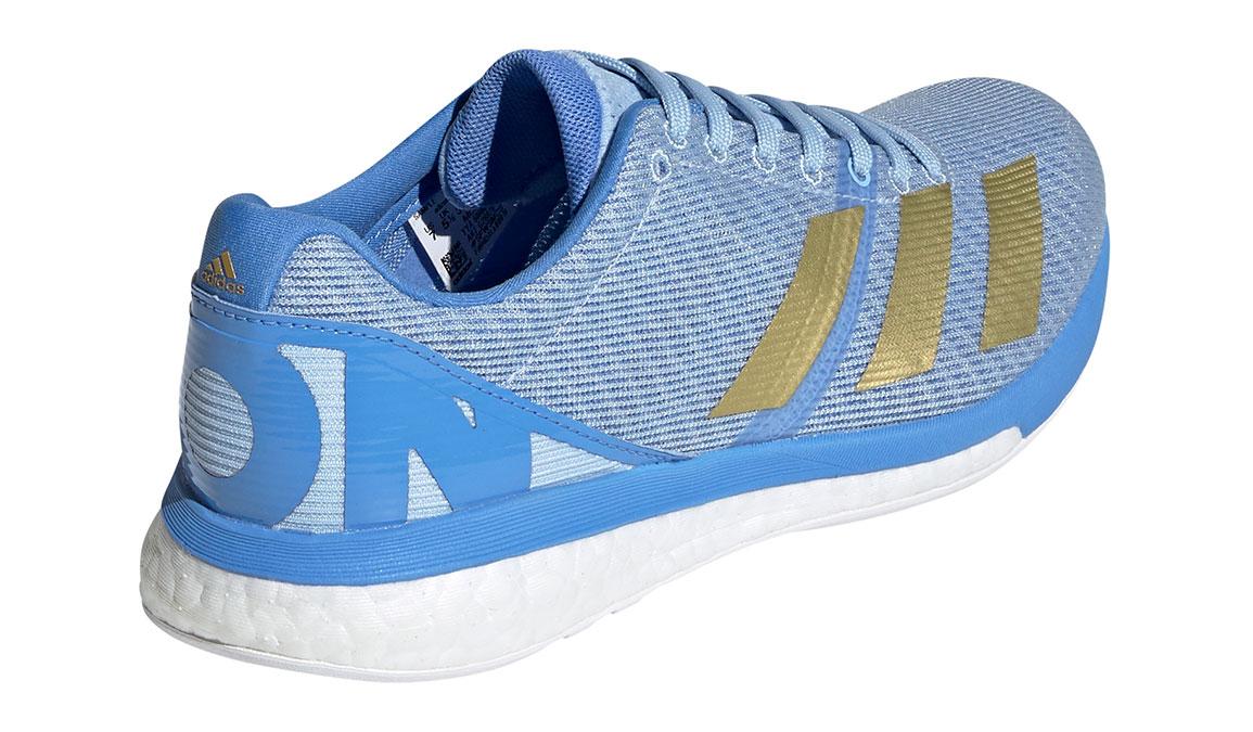 Women's Adidas Adizero Boston 8 Running Shoe - Color: Glow Blue/Gold Metallic (Regular Width) - Size: 5, Blue/Gold, large, image 3