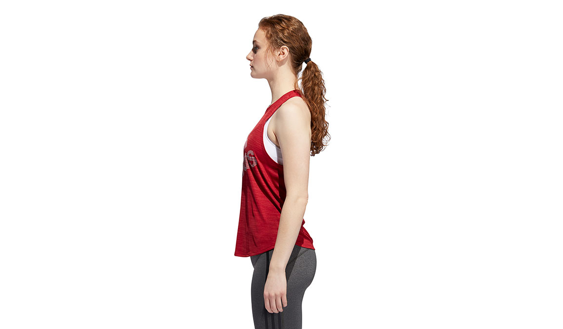 Women's Adidas Badge Of Sport Tank - Color: Active Maroon Size: L, Active Maroon, large, image 3