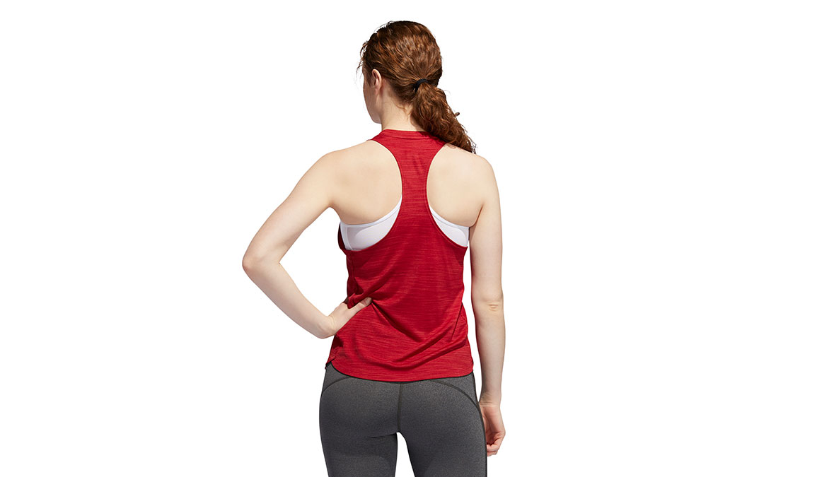 Women's Adidas Badge Of Sport Tank - Color: Active Maroon Size: L, Active Maroon, large, image 4