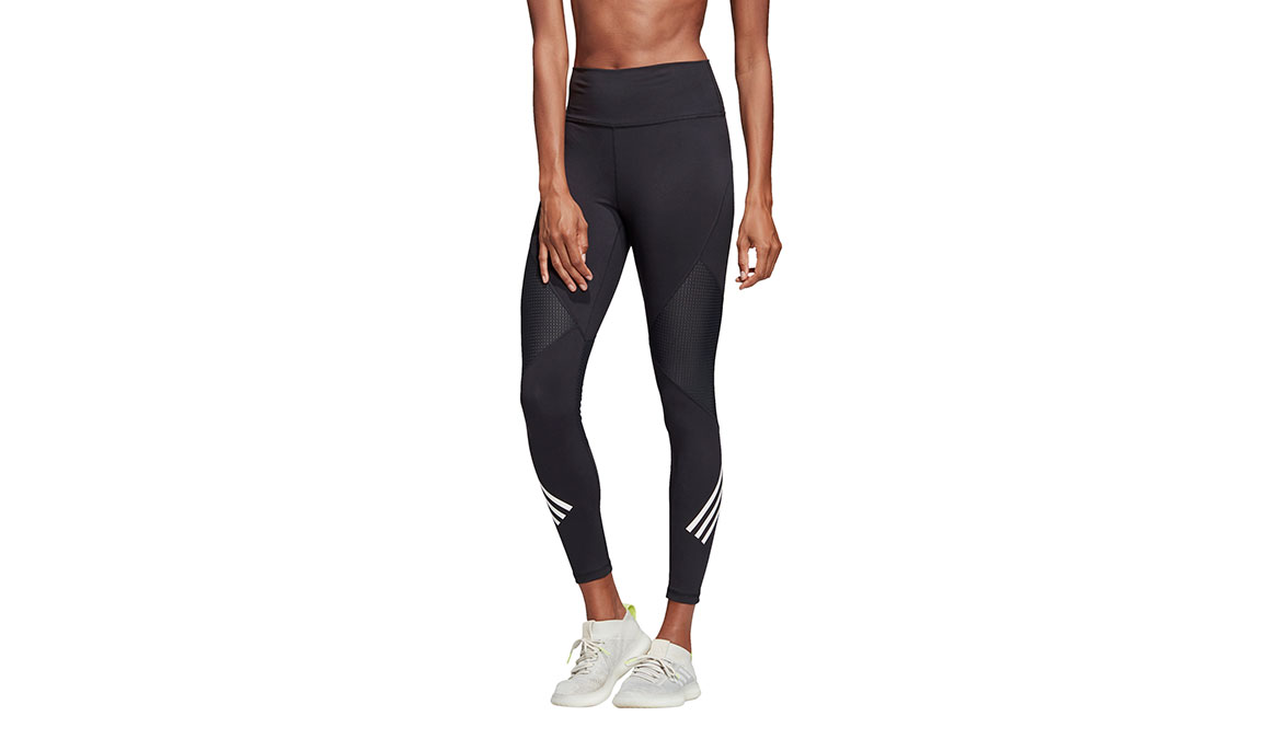 Women's Adidas Believe This High Rise 7/8 Graphic Tight - Color: Black Size: XXS, Black, large, image 1