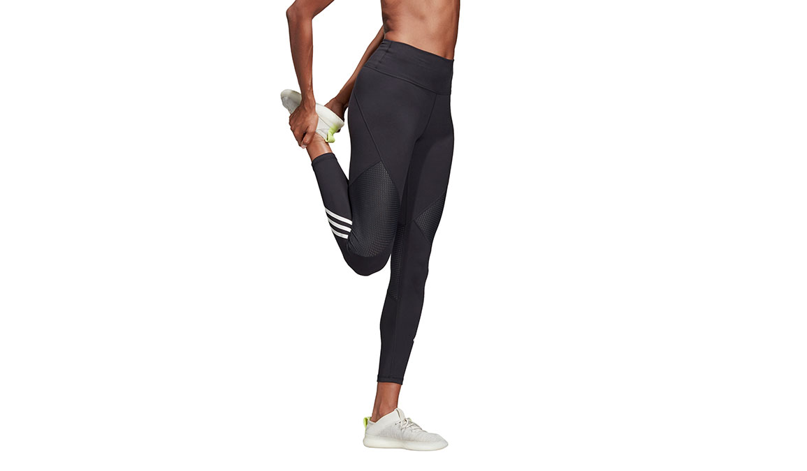 Women's Adidas Believe This High Rise 7/8 Graphic Tight - Color: Black Size: XXS, Black, large, image 2