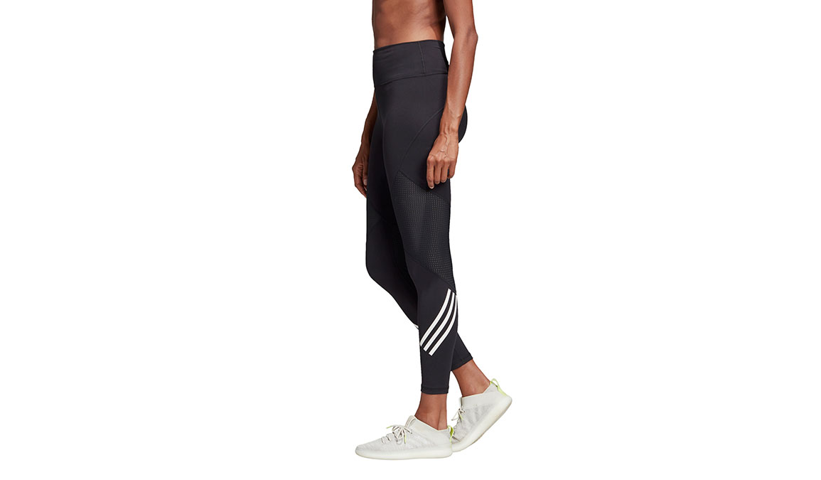 Women's Adidas Believe This High Rise 7/8 Graphic Tight - Color: Black Size: XXS, Black, large, image 3
