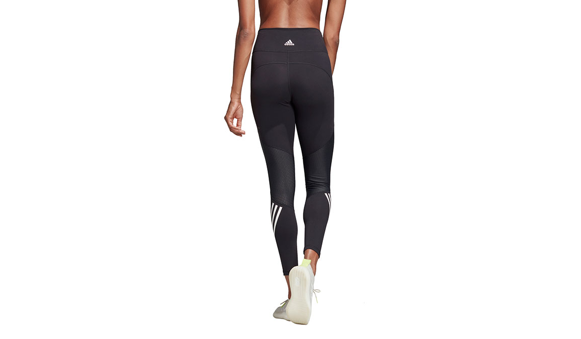 Women's Adidas Believe This High Rise 7/8 Graphic Tight - Color: Black Size: XXS, Black, large, image 4