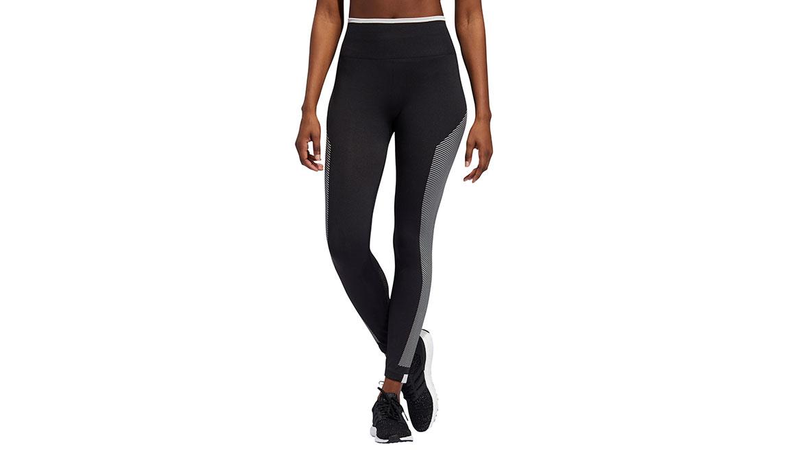 Women's Adidas Believe This PrimeKnit Tight - Color: Black/White Size: XS, Black/White, large, image 1