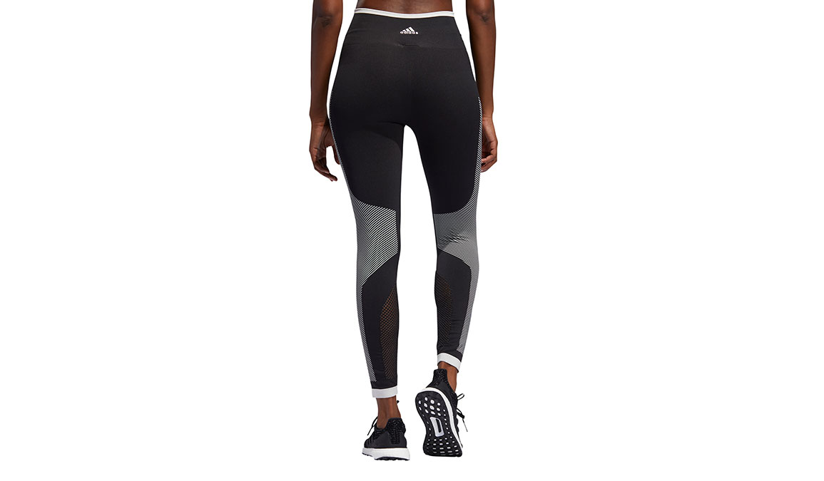Women's Adidas Believe This PrimeKnit Tight - Color: Black/White Size: XS, Black/White, large, image 3