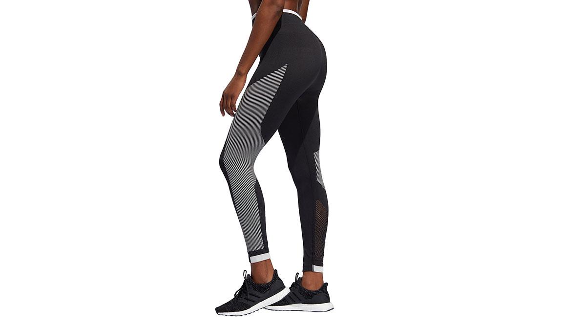 Women's Adidas Believe This PrimeKnit Tight - Color: Black/White Size: XS, Black/White, large, image 4