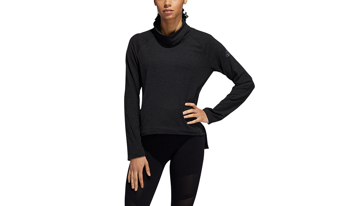 Women's Adidas Cozy Cover-Up Sweater - Color: Black Size: XS, Black, large, image 1