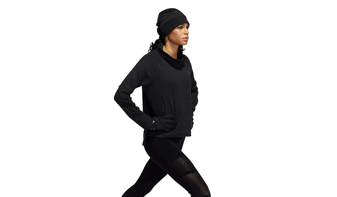 Women's Adidas Cozy Cover-Up Sweater - Color: Black Size: XS, Black, large, image 2