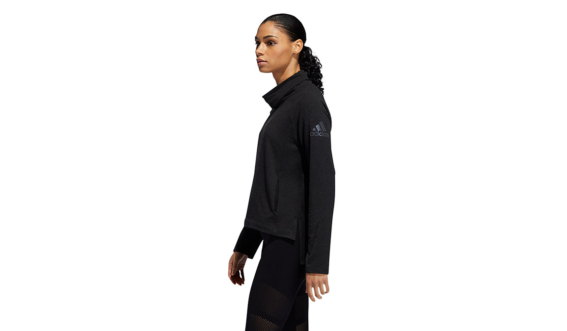 Women's Adidas Cozy Cover-Up Sweater - Color: Black Size: XS, Black, large, image 3