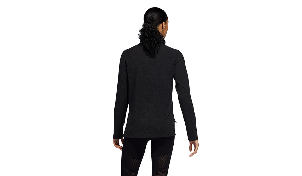 Women's Adidas Cozy Cover-Up Sweater - Color: Black Size: XS, Black, large, image 4