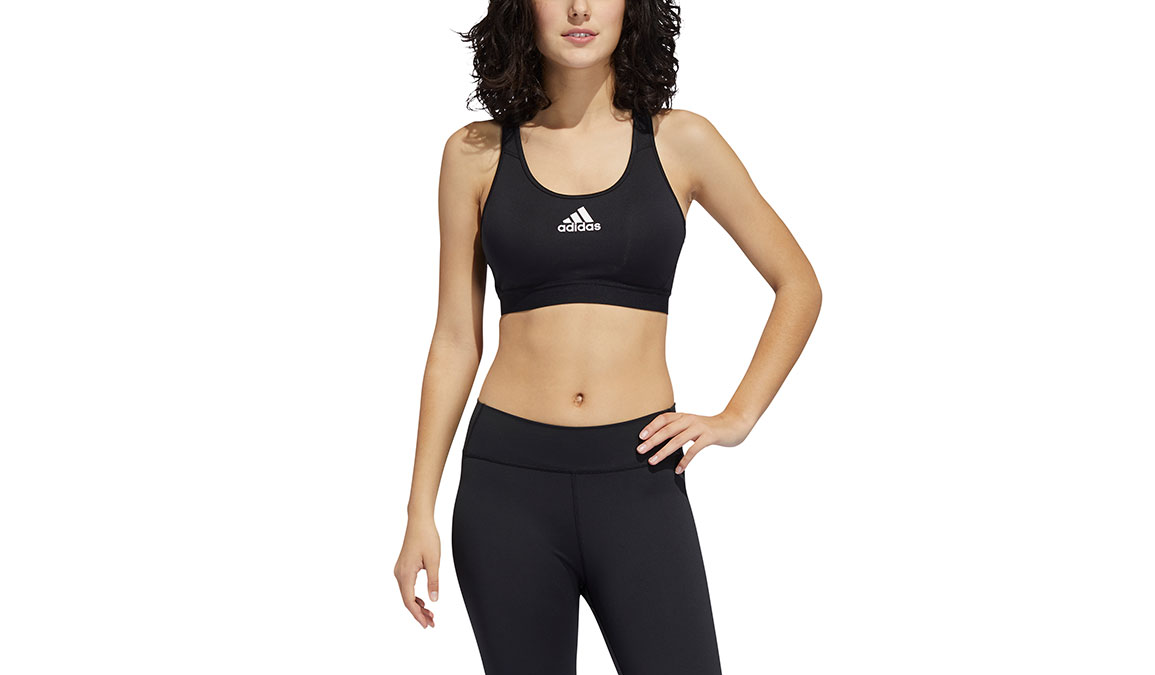Women's Adidas Don't Rest Alphaskin Padded Bra - Color: Black Size: S, Black, large, image 1