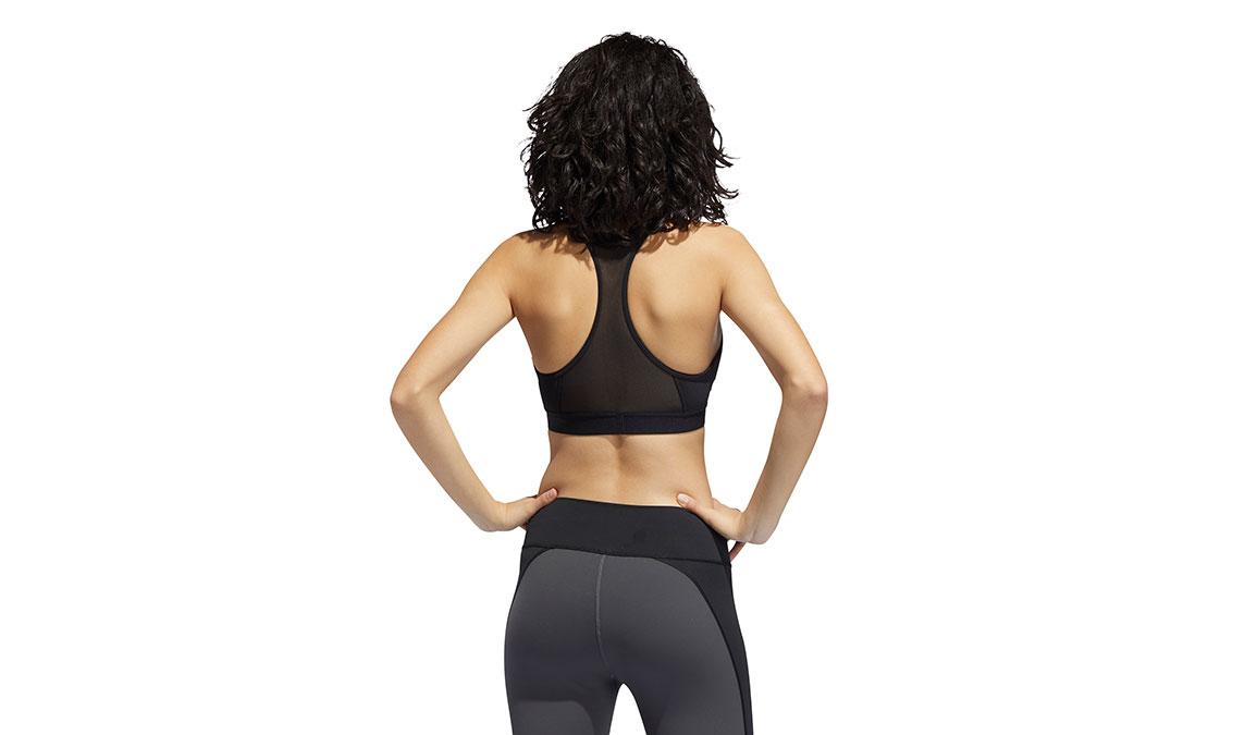 Women's Adidas Don't Rest Alphaskin Padded Bra - Color: Black Size: S, Black, large, image 4