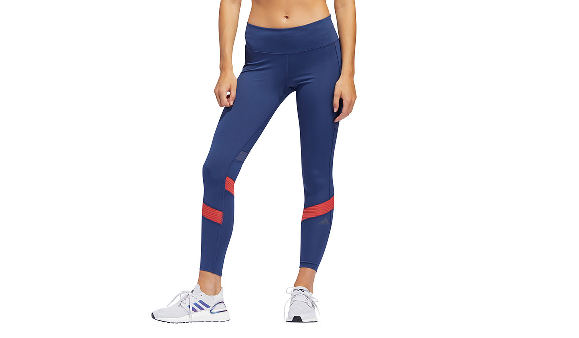 Women's Adidas How We Do 7/8 Tight - Color: Tech Indigo/Glory Red Size: XS, Blue/Red, large, image 1