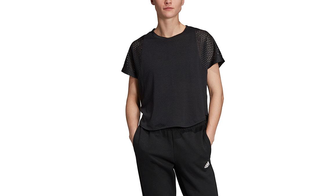Women's Adidas ID Mesh Tee - Color: Black Size: XXS, Black, large, image 1