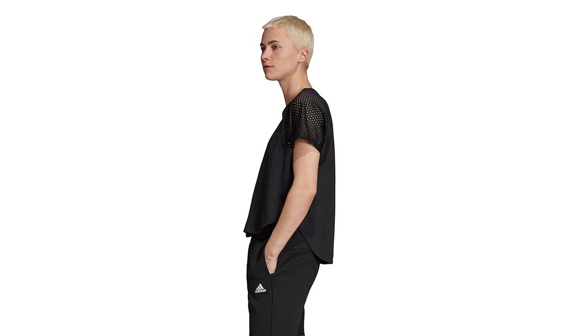 Women's Adidas ID Mesh Tee - Color: Black Size: XXS, Black, large, image 2