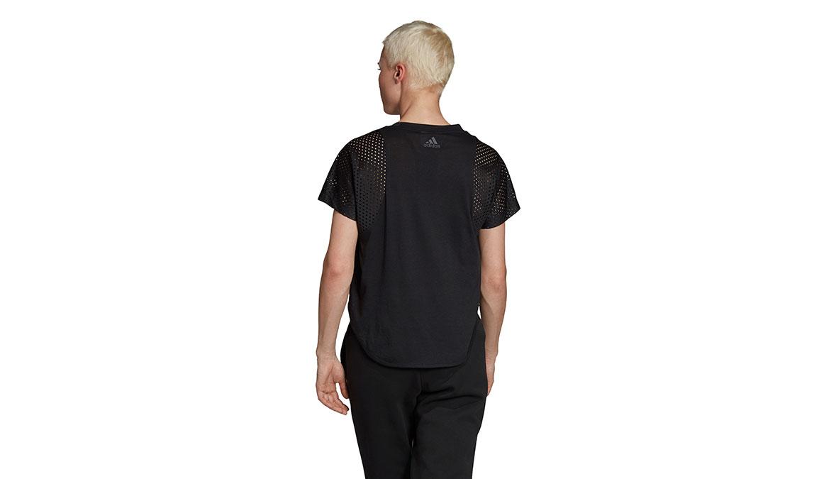 Women's Adidas ID Mesh Tee - Color: Black Size: XXS, Black, large, image 3