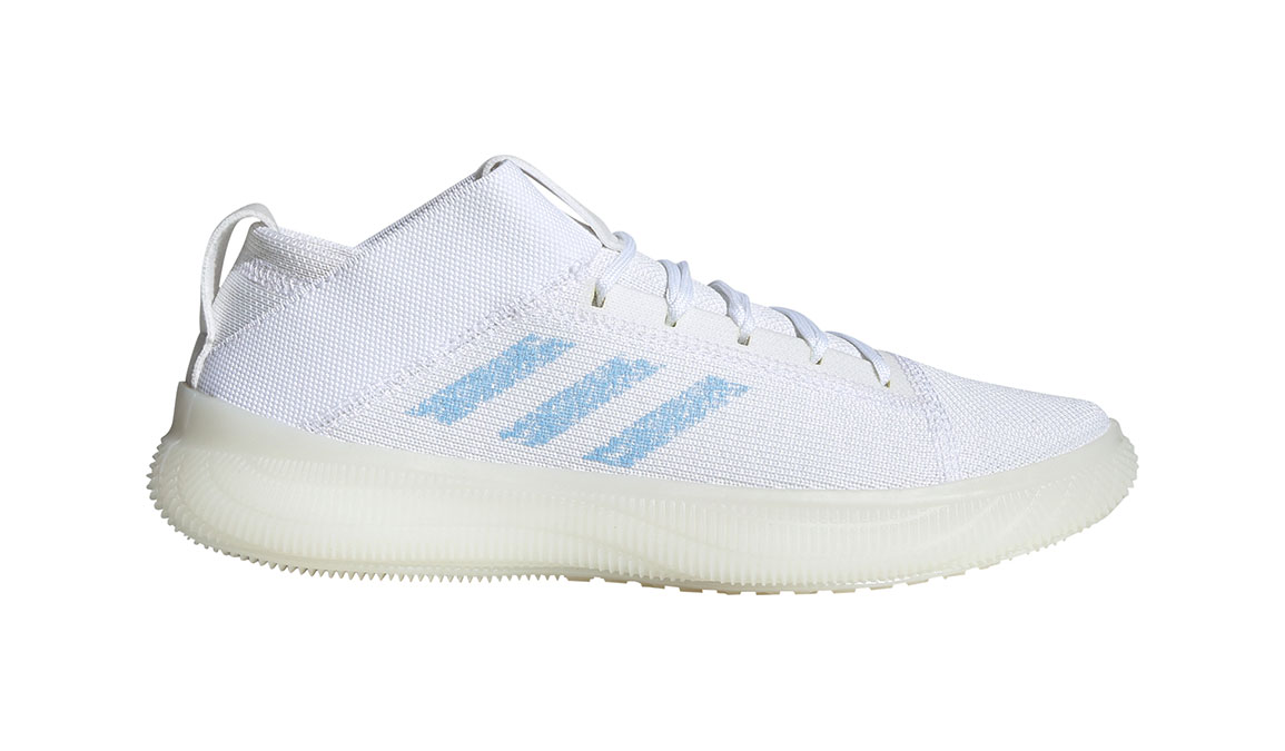 Women's Adidas Pureboost Trainer Shoes - Color: Feather White/Glow Blue (Regular Width) - Size: 10, Feather White/Glow Blue, large, image 1