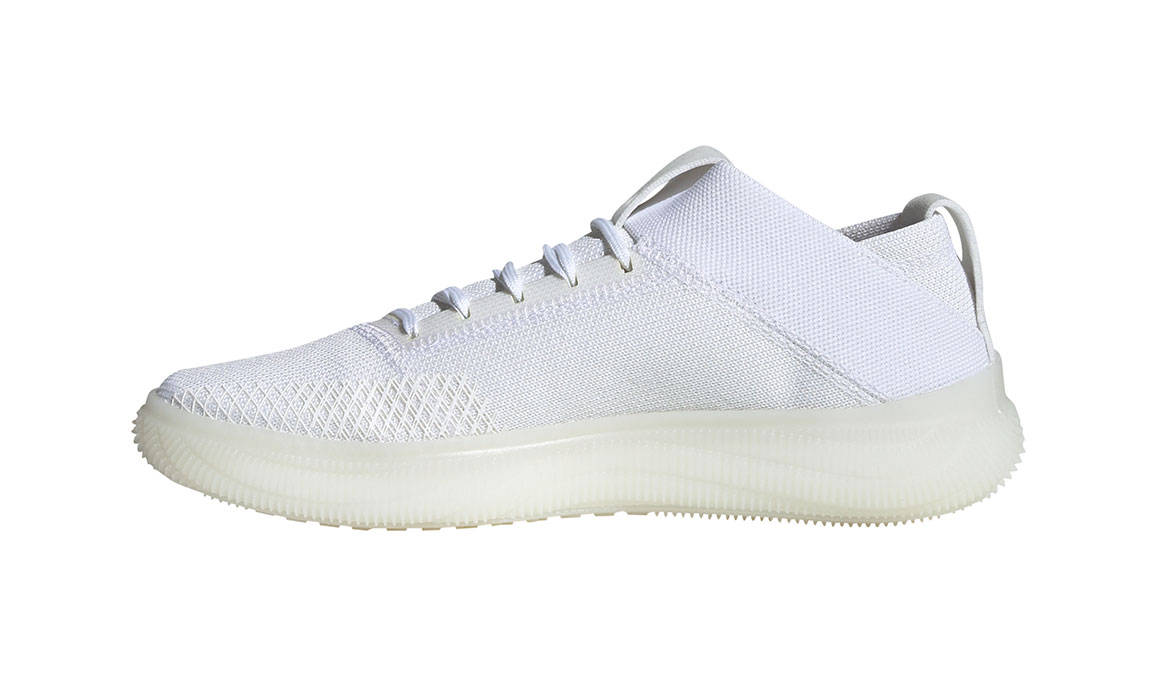 Women's Adidas Pureboost Trainer Shoes - Color: Feather White/Glow Blue (Regular Width) - Size: 10, Feather White/Glow Blue, large, image 2