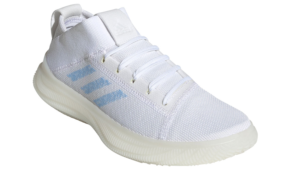 Women's Adidas Pureboost Trainer Shoes - Color: Feather White/Glow Blue (Regular Width) - Size: 10, Feather White/Glow Blue, large, image 3