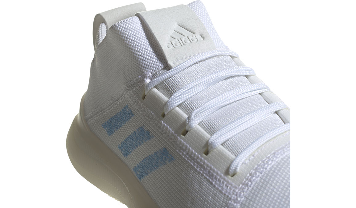 Women's Adidas Pureboost Trainer Shoes - Color: Feather White/Glow Blue (Regular Width) - Size: 10, Feather White/Glow Blue, large, image 4