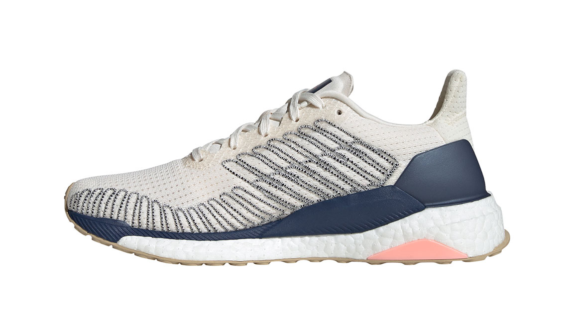 Women's Adidas SolarBOOST 19 Running Shoe - Color: Chalk White/Glory Pink (Regular Width) - Size: 7.5, White/Pink, large, image 2