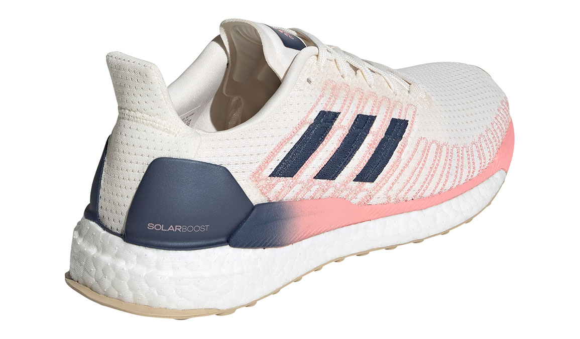 Women's Adidas SolarBOOST 19 Running Shoe - Color: Chalk White/Glory Pink (Regular Width) - Size: 7.5, White/Pink, large, image 3