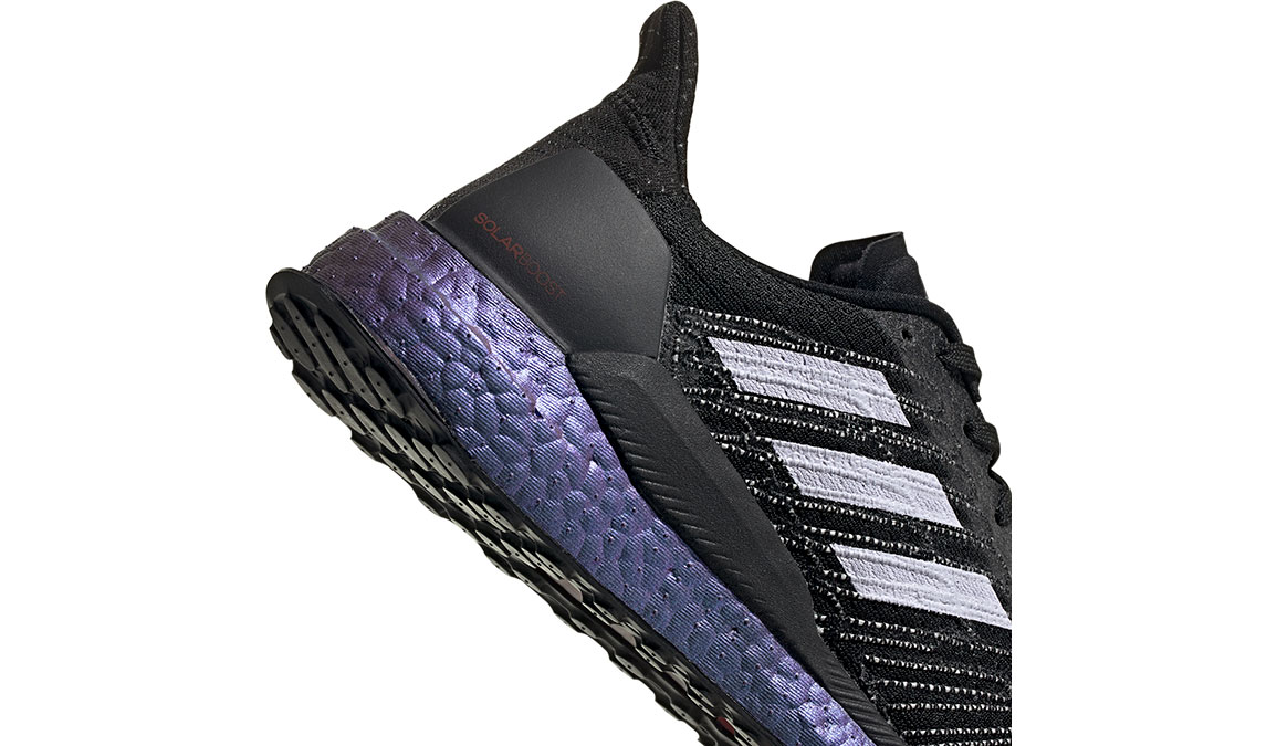 Women's Adidas SolarBOOST 19 Running Shoe - Space Race - Color: Core Black/Purple Tint (Regular Width) - Size: 5, Black/Purple, large, image 4