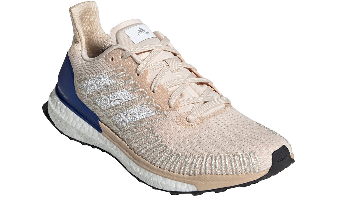Women's Adidas SolarBOOST ST 19 Running Shoe - Color: Linen/Collegiate Royal (Regular Width) - Size: 8.5, Linen/Collegiate Royal, large, image 3
