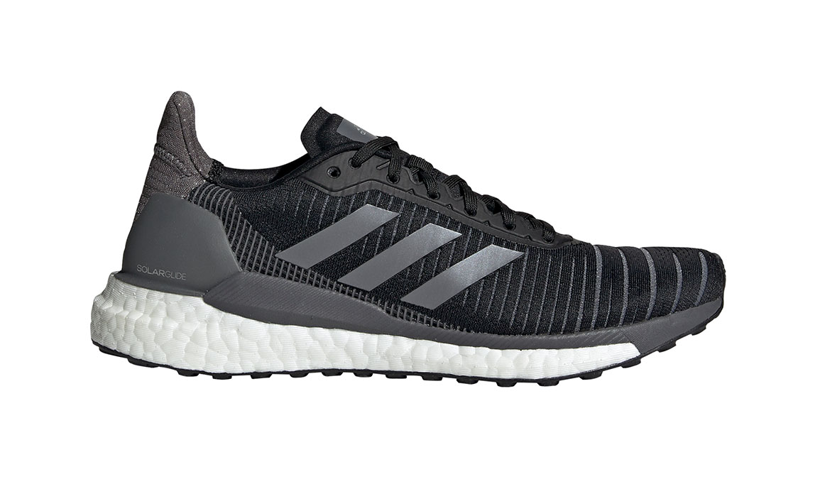 Women's Adidas SolarGlide 19 Running Shoe - Color: Core Black/Grey (Regular Width) - Size: 6, Core Black/Grey, large, image 1