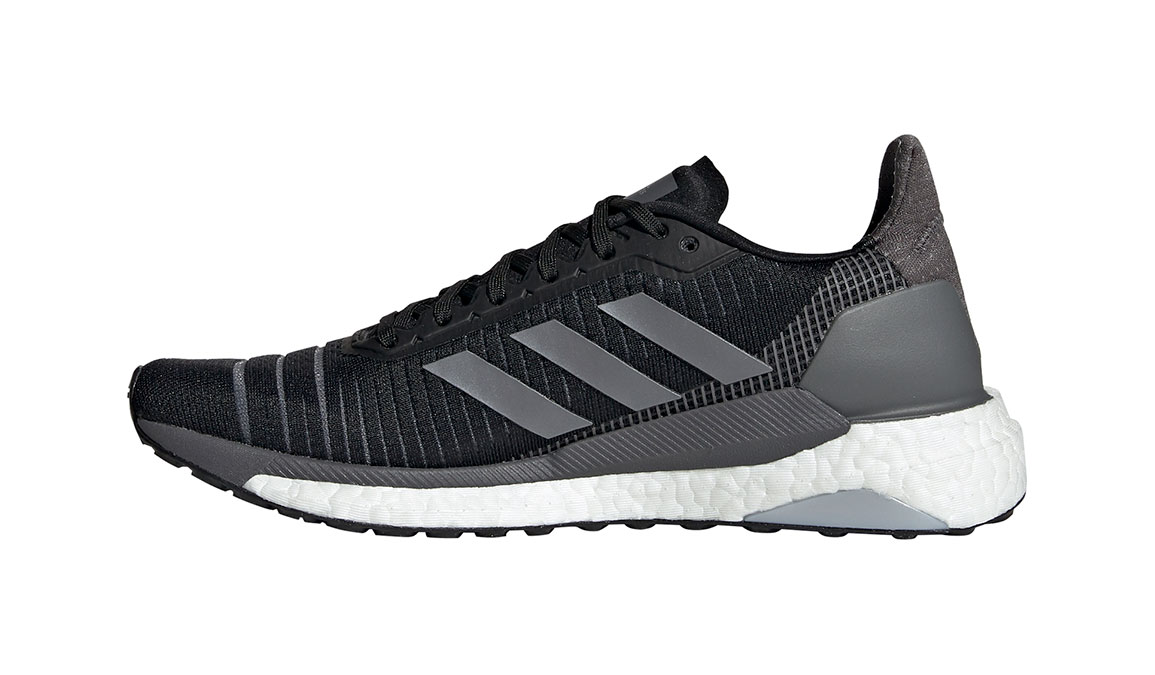 Women's Adidas SolarGlide 19 Running Shoe - Color: Core Black/Grey (Regular Width) - Size: 6, Core Black/Grey, large, image 2