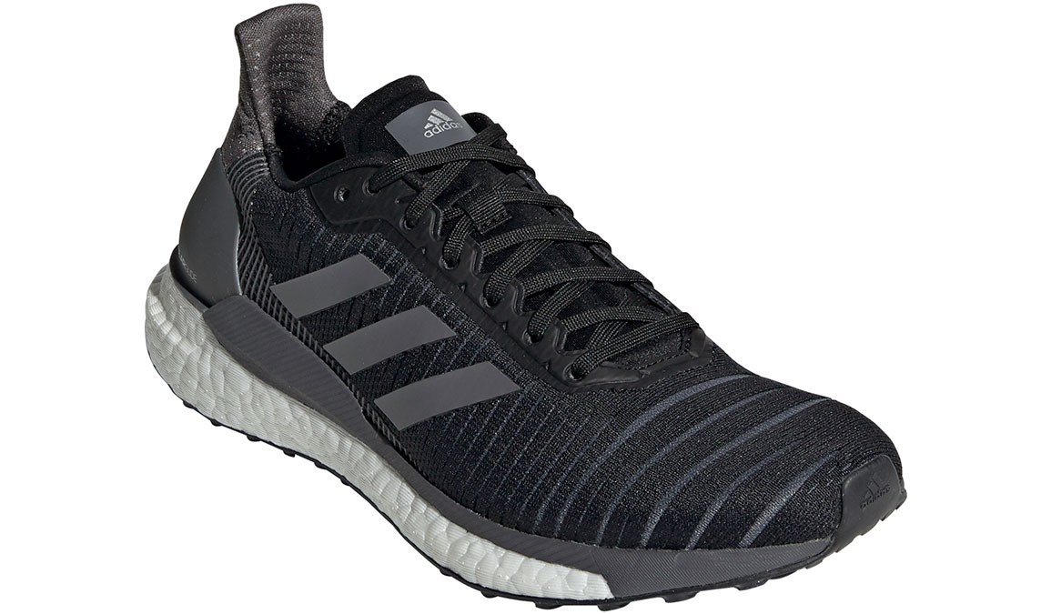 Women's Adidas SolarGlide 19 Running Shoe - Color: Core Black/Grey (Regular Width) - Size: 6, Core Black/Grey, large, image 3