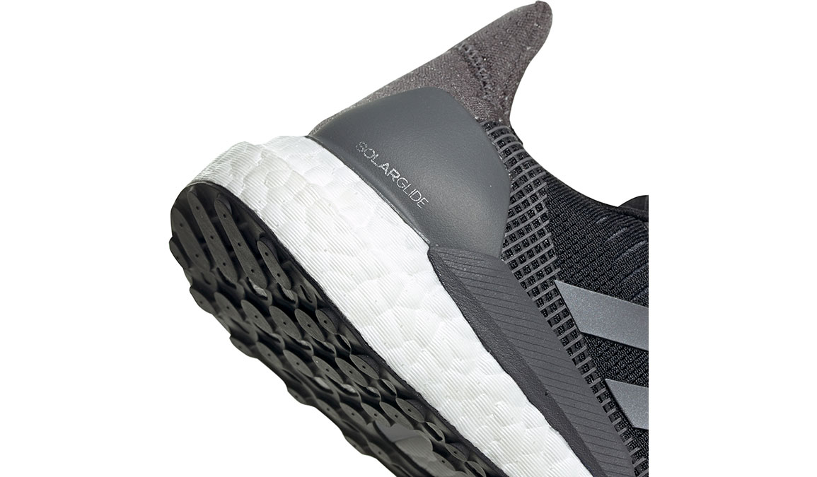 Women's Adidas SolarGlide 19 Running Shoe - Color: Core Black/Grey (Regular Width) - Size: 6, Core Black/Grey, large, image 4