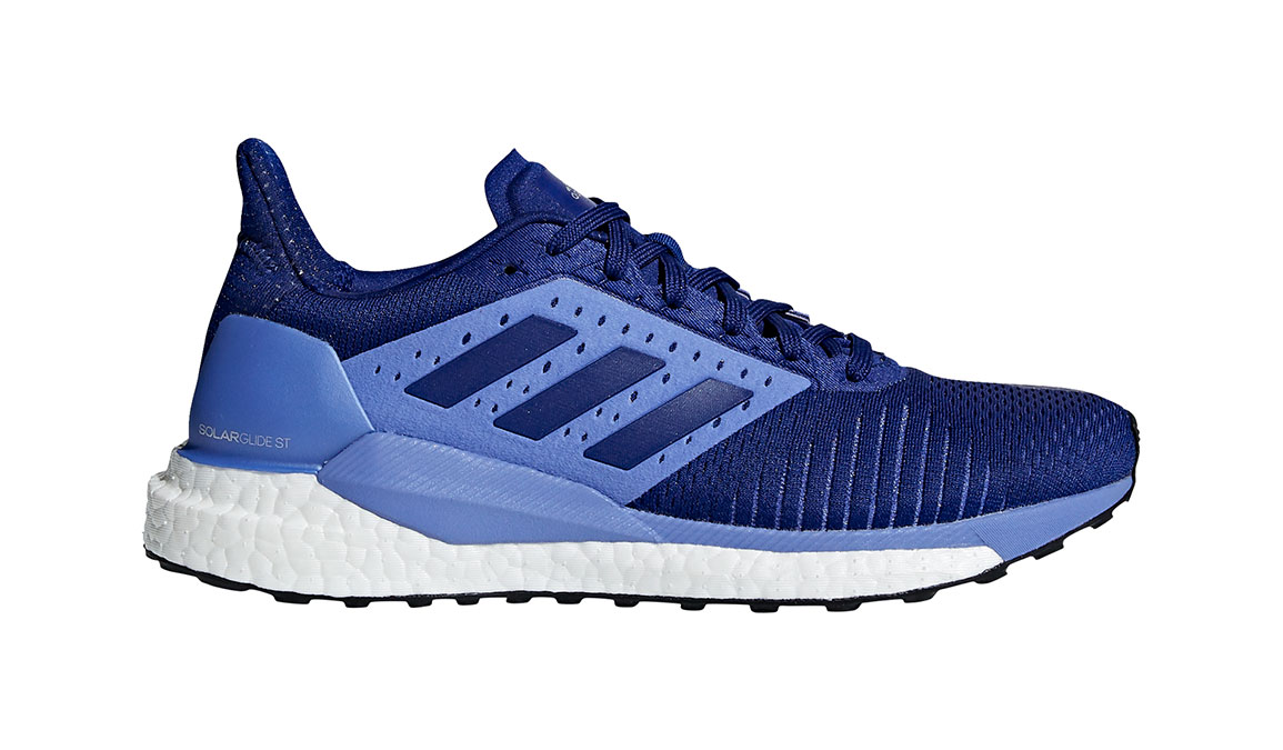 Women's Adidas SolarGlide ST Running Shoe - Color: Mystery Ink/Lilac (Regular Width) - Size: 10, Ink Blue, large, image 1