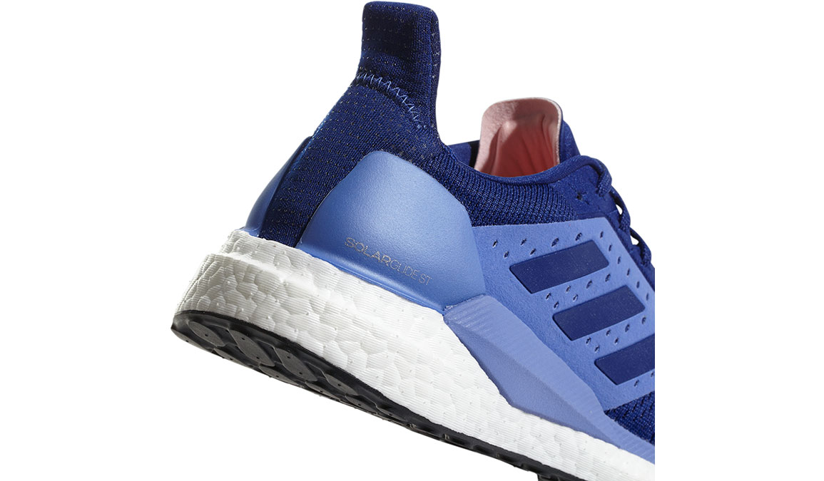 Women's Adidas SolarGlide ST Running Shoe - Color: Mystery Ink/Lilac (Regular Width) - Size: 10, Ink Blue, large, image 2