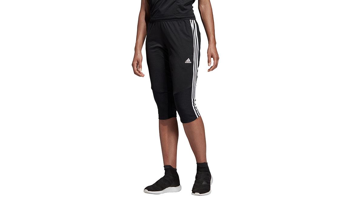 Women's Adidas Tiro 19 3/4 Pants - Color: Black/White Size: XXS, Black/White, large, image 1