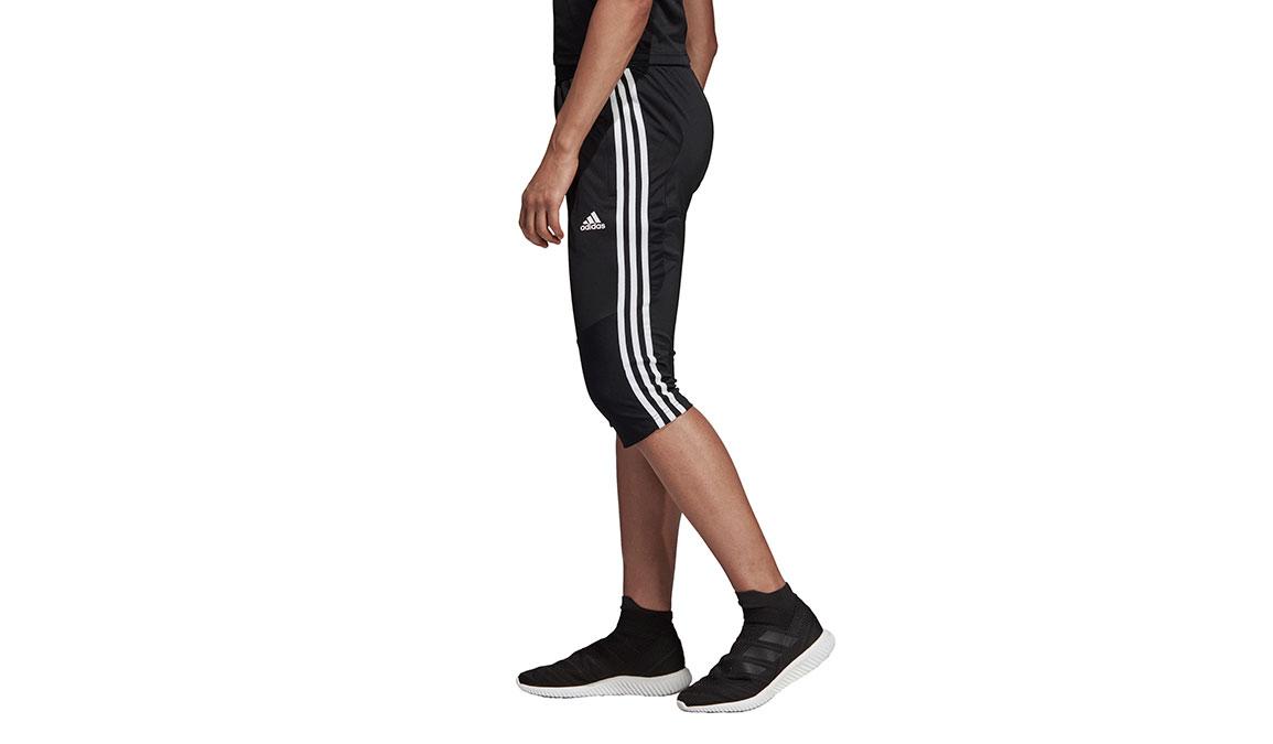Women's Adidas Tiro 19 3/4 Pants - Color: Black/White Size: XXS, Black/White, large, image 2